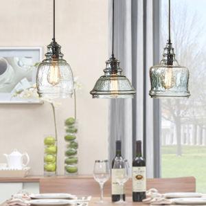 Frasco de vidro transparente casa moderna forma de luz para pendurar