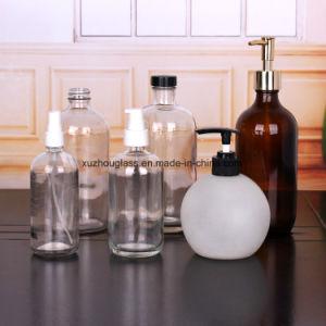 500ml&300ml Flacons en verre clair pour savon liquide avec pulvérisateur à pompe