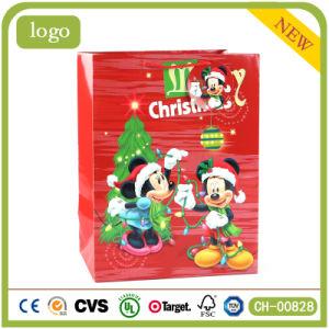 Рождество Красный Микки Mou Паттен Детский подарок бумажных мешков для пыли