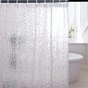 Efecto 3D EVA de cuarto de baño cortina de ducha con imanes de Servicio Pesado