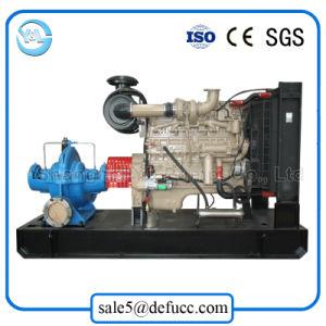 Двойной центробежный насос всасывания установлен прицеп с дизельным двигателем