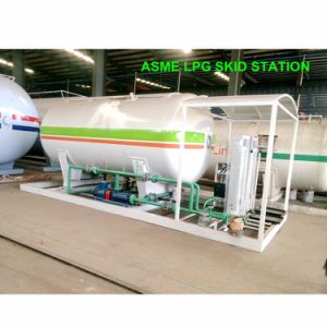 20000 litros ASME estampado de deslizamiento de la estación de llenado de gas