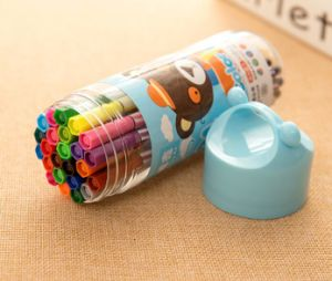 6 12 24 18 couleurs Point doux lavable stylo de couleur de l'eau