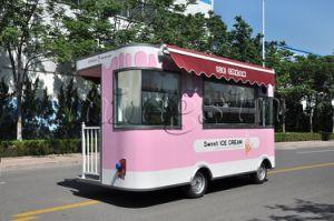 De Vrachtwagen van het roomijs/de Vrachtwagen van het Voedsel die in China wordt aangepast