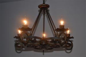 5 Anitque Luz castiçal de Bronze Lustre