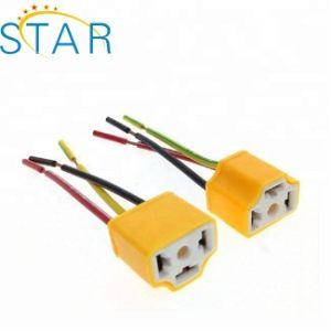 Cablaggio di collegamenti automatico dello zoccolo della lampadina della spina H4 del connettore del faro dell'automobile di ceramica