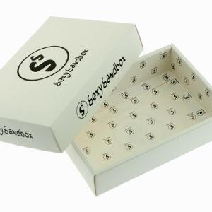 주문 백색 간단한 Foldable 의복 종이 수송용 포장 상자