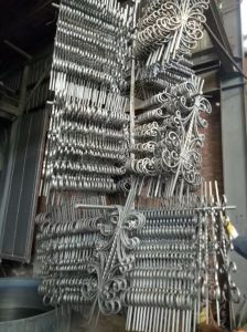 Décoratifs balustrade en fer forgé