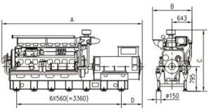 16/20 Diesel Generator Met motor