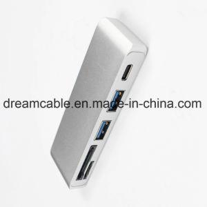 1가지의 유형 C USB 결합 SD TF 카드 판독기에 대하여 5
