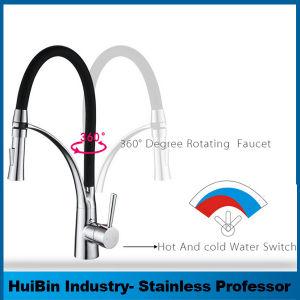 Estilo moderno Water-Saving Dissipador de borracha de silicone preta Misturador de cozinha
