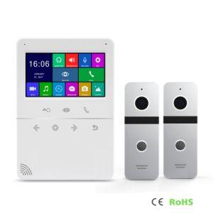 ホームセキュリティービデオドアベルの相互通信方式4.3インチのメモリインターホンの