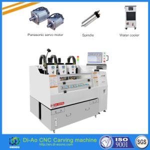 3 cabeças de corte da máquina de corte CNC de alta precisão para telefone caso, o protetor de tela do painel