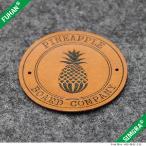 Prendas de Vestir personalizadas Círculo Troqueladas etiqueta patch cuero PU