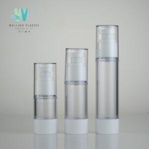 15ml de Ronde Plastic Fles zonder lucht van de Spuitbus van de Pomp van de Lotion