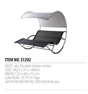 023798d14 El doble de Patio de balancín de sillones chaise lounge sillas de playa