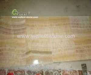 美しい中国のベージュ及び黄色ベースポーランド人のオニックスの築壁および床タイル