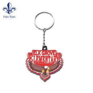 키를 위한 디자인에 의하여 돋을새김되는 PVC 고무 Keychain