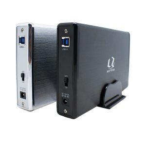 El aluminio 3.5 USB 3.0 de disco duro SATA HDD Caja