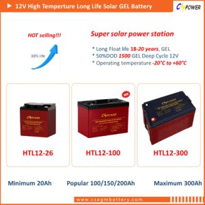 De zonne Diepe Batterij 12V180ah van het Gel van de Cyclus Panel/UPS (HTL12-180AH)