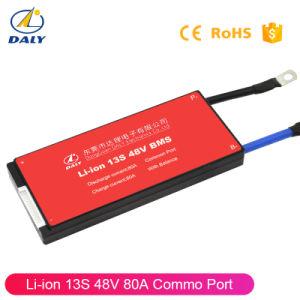 13s 48V размера 18650 Li-ion 80A электрический велосипед литий батарейный блок BMS/PCB/PCM системной платы