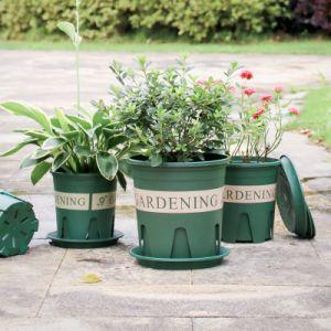 12cm galão pote de flores de plástico para melhor controle de raiz decoração de jardim