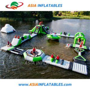 Le parc aquatique géant gonflable flottante Aqua Park pour le lac de l'océan