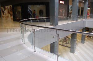 Barandilla de cristal del balcón de acero inoxidable pasamanos para el proyecto