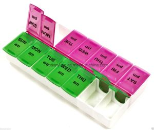Пластиковый 7дней таблетки, установите флажок Данные органайзера