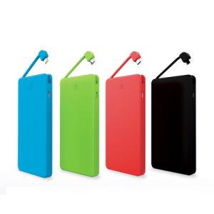 Mejor Venta de Batería Recargable 4000mAh cable integrado en el banco de potencia