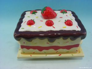 El mejor venta de cerámica personalizada Cookie Jar de tortas dulces