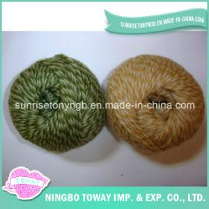 Fancy Worsted Mão Artesanato Tecelagem de fios de lã tricô (T040)