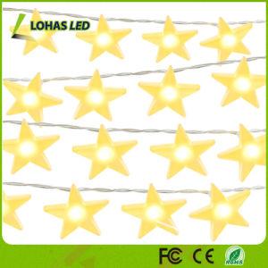 Zeichenkette-Licht-Weihnachtslicht bunte des Dekoration-Batterie-Solarstern-LED