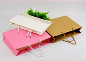 Don écologique en papier kraft coloré un sac de shopping