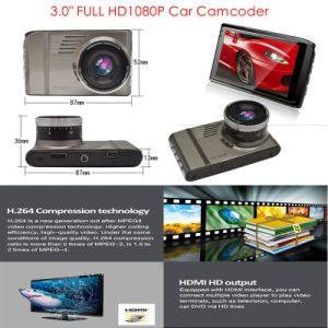 Nuova macchina fotografica piena calda del precipitare della videocamera portatile dell'automobile di 3.0  HD1080p con H264. Formato dei MOVIMENTI DVR, scatola nera dell'automobile mega 5.0, 6g obiettivo, 170degree angolo DVR-3017