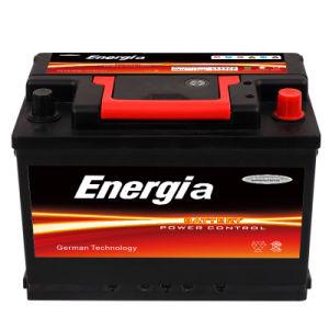 12V 75 Ah a norma DIN selada recarregável de ácido de chumbo para bateria automático