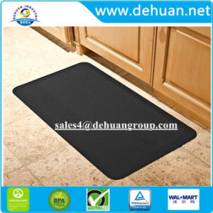 Almohadilla de espuma de PU de rodillas la cocina de color negro alfombrilla permanente