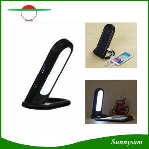 Solar multifunción de 12 LED lámpara portátil con puerto USB portátil Solar Linternas LED con atenuación Protección Ocular Solar lámpara de escritorio