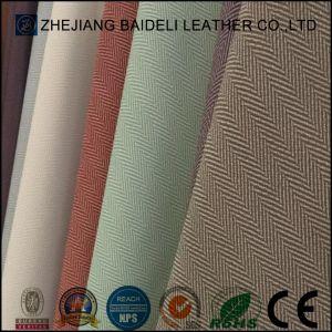 Motif de tissu Lady Sac en cuir synthétique avec une bonne résistance à l'abrasion