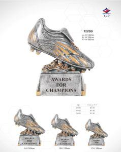 Il trofeo su ordinazione di gioco del calcio di alta qualità mette in mostra la tazza del trofeo