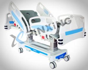 Fonction électrique de 5-lit de soins intensifs avec rail du côté des indicateurs de l'angle