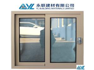 El doble de aluminio de alta calidad de vidrio de ventana deslizante