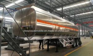 2 Edelstahl-LKW-Schlussteil des Wellen-Aluminiumtanker-30000L