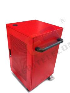 Красный цвет стального листа кабинет зарядки USB портативного компьютера