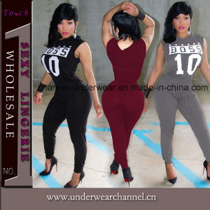 Encolure en V profond Sexy Pantalon Jumpsuit (TBLSN66133)