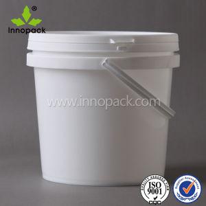 ふたおよびHanpdleの水またはペンキの使用のための2LバージンPPのプラスチックバケツの円形のバケツ
