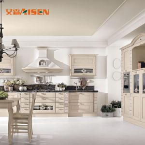 Edifício do Hotel madeira de cerejeira cozinha totalmente equipada Armários de cozinha moderna