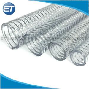 O fio de aço inoxidável de plástico de PVC descarregam água de borracha do tubo flexível