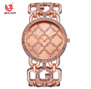 Fashion diamond or rose/Gold/ Silver Bracelet Watch femmes montre-bracelet chaîne #V340