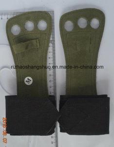 Pinse del cuoio di ginnastica della cinghia di Weightlifting di sostegno della barra della manopola della mano
